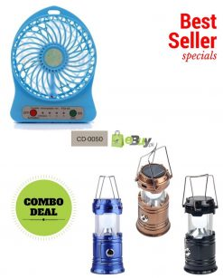 Solar Rechargeable Lantern & Portable Fan in Pakistan