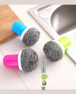 Steel Wire Ball Cleaning Brush with Holder at Best Price In Pakistan