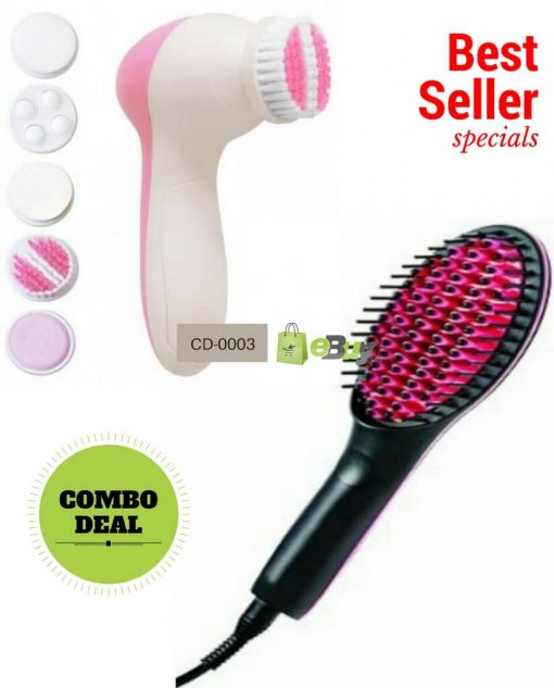 Straightener Brush & Facial Massager Online in Pakistan