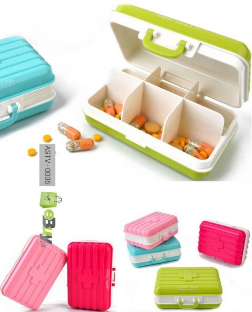 Travel Suitcase Shaped Mini Pill Box Online in Pakistan