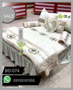White Color Bridal Bed Sheets BD-074